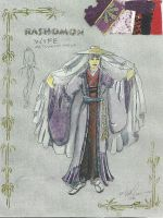 Roshomon costume design by shibori78