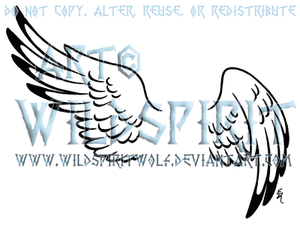 Hermes Wing Set Tattoo