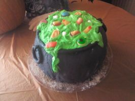 Halloween cake 2011 by Lioness123