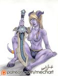 Patreon: WoW Draenei pinup by mechangel2002