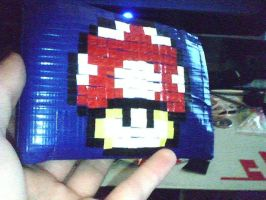 Mushroom Wallet - Duct Tape- by dbgtrgr