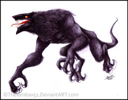 Black Creature Hound by RatchetMario