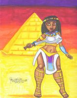Commish__Egyptian Queen Warrior by Tanis711