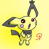 Notched-Ear Pichu by sim-pie