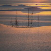 Snow Dunes In Sunset by niksuo