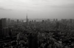 Gray Day in Tokyo by pinballwitch