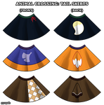 Animal Crossing tail skirts by pyrogoth