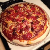 100% Homemade Pepperoni and Italian Sausage Pizza by Wigglesx
