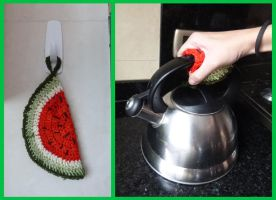 Watermelon Pot Holder by argentinian-queen