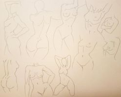 Female Anatomy Poses by KoalaTheArtist