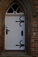 white medieval door by AlenaKrause