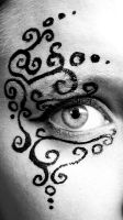 Face Paint Filligree by BlackMagdalena
