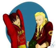 Hetalia - Roma and Germania by Bisho-s