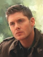 Dean Winchester Portrait by virgothedreamer