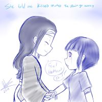 You know what My mom use to tell me...? (Sketch) by BlueSpirited