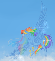 MLP Carousel Series: Rainbow Dash by January-Joy