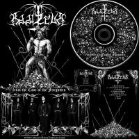 Baal Ze Ub Black Thrash Metal hand drawn cd cover by MOONRINGDESIGN