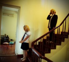Rin and Len Kagamine cosplay 3 by aliceshadowknight