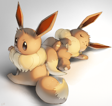 Some eevees by PinkGermy