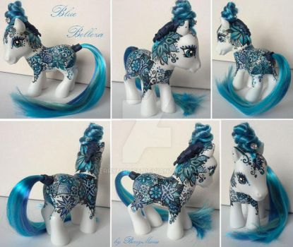 My little Pony Custom Blue Belleza by BerryMouse