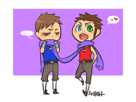 Scarf_Johnny and Alex by aulauly7