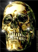Liquid Gold Skull by blindguard