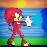 Knuckles at Sunset by Yazoo11