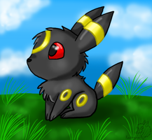 Chibi Umbreon by racingwolf