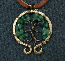 Green Omega Pendant by Shendorion