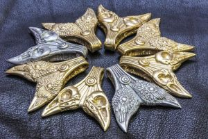 Odin's Ravens Pendants by TheCloneEmperor