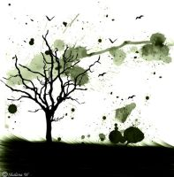 Splatter Tree by ZombieChickxxx
