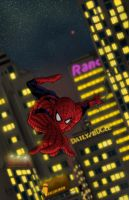 Spidey by Night by wordmongerer