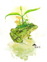 Grenouille arborescente by Faol-bigbadwolf