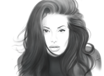 Angelina Jolie sketch. by swa7