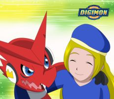 Best Partner Cover: Haley and Shoutmon by FairyAurora