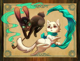 .: The Cat and the Hare by Sapphirelullaby