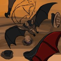Vampire Bat Study by DEAFHPN