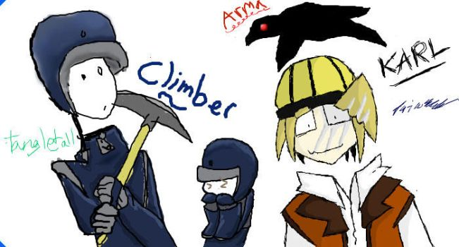 Iscribble: Karl and Climber by TheDragonFreak7