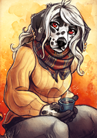 Dalmatian and Coffee - Sketch by TasDraws
