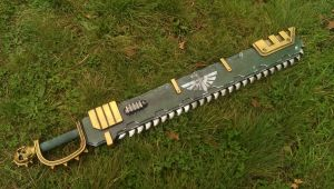 Dark angel chainsword by DragonArmoury