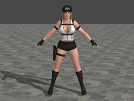 DOA5U Tina Police costume (Updated) by zareef