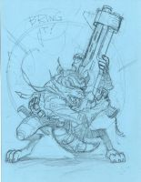 Rocket Raccoon pencils by MichaelDooney