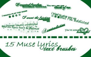Muse lyrics text brushes by MissPriss11120