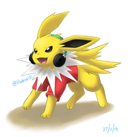 Request: Jolteon in Red by Bluekiss131