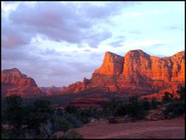 Sunset over Sedona by andromeda