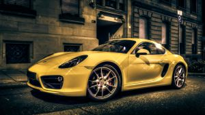 Yellow Porsche by wulfman65