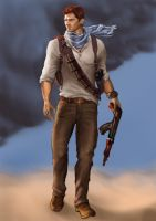 Nathan Drake (Uncharted 3) by freakoutduder