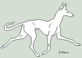 Hound Lineart by J-Dove