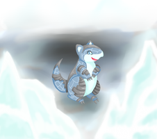 Sandshrew - steel/ice by LunarisTigris
