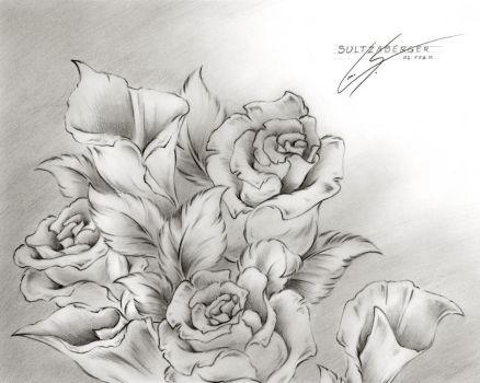 Flower Drawing 7 by Sultzaberger